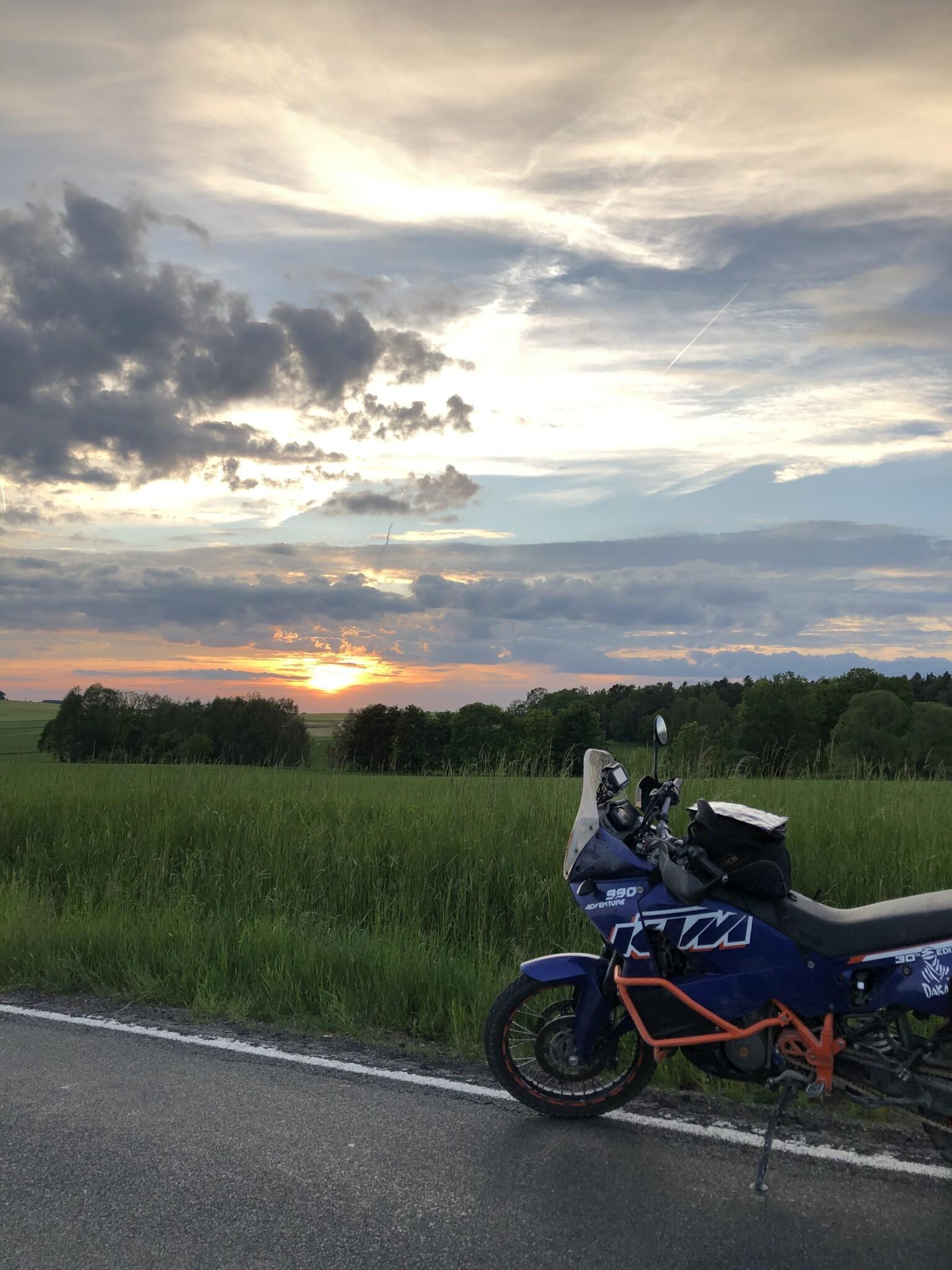Sonnenuntergang in Sachsen