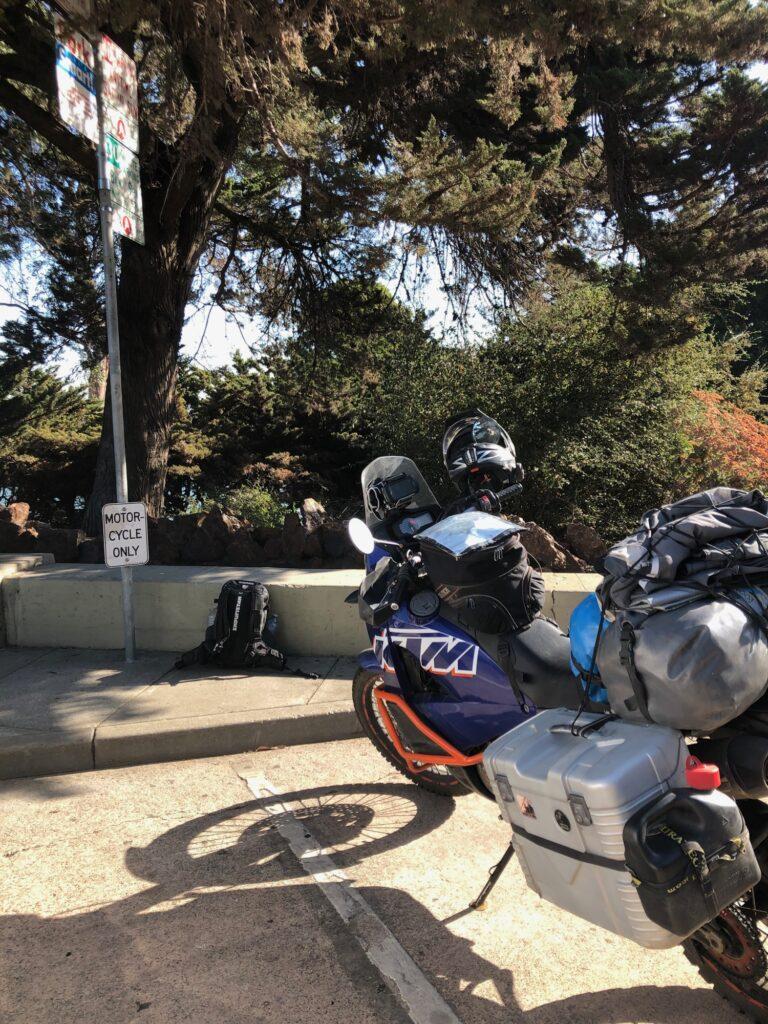Motorrad Parkplatz