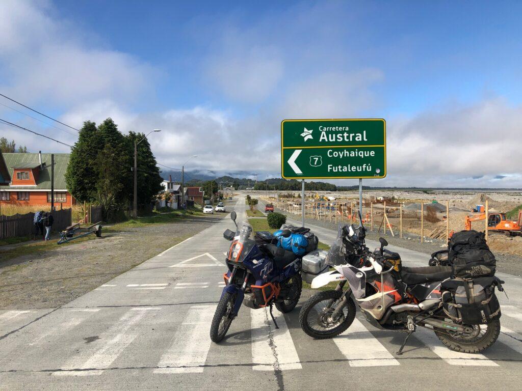 Fahrt auf die Carretera Austral in Chaitén