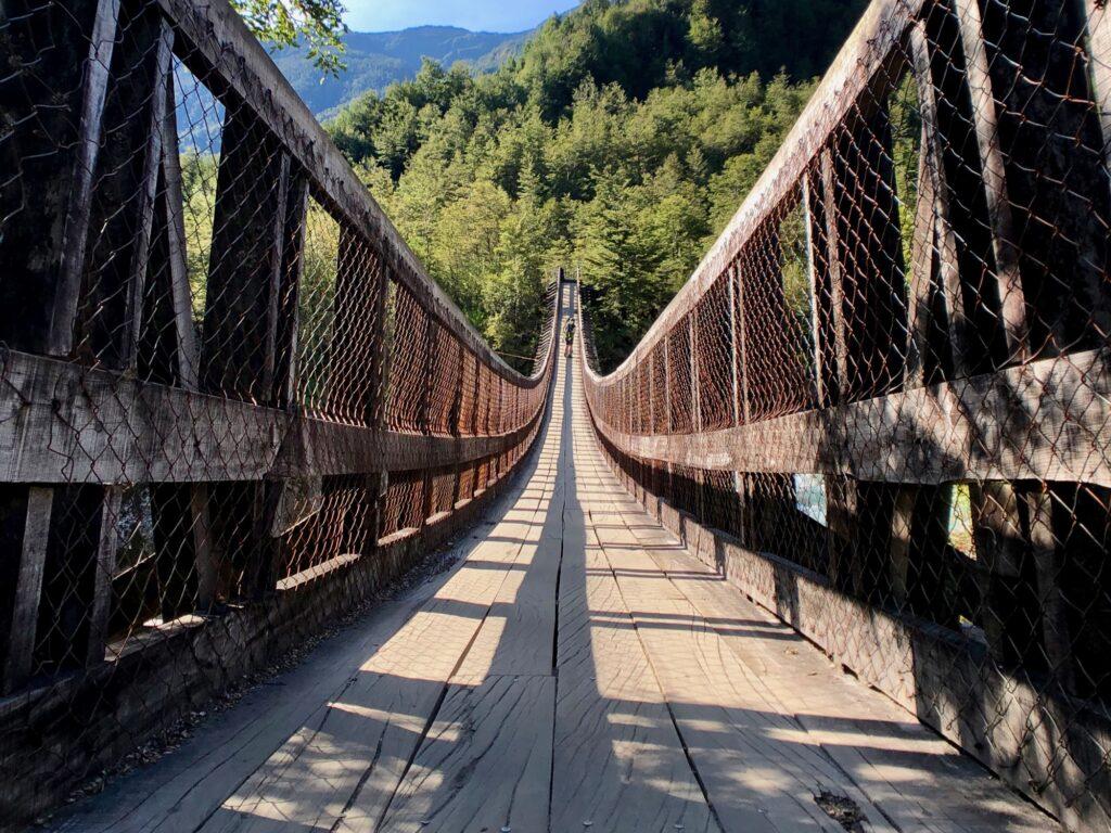 Hängebrücke im Nationalpark Queulat