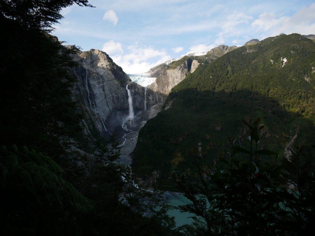 Blick auf den Gletscher Queulat